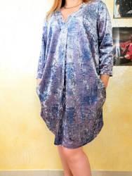 Sukienka z prasowanego weluru  PLUS SIZE