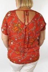 Bluzka we wzory z wiązaniem na plecach PLUS SIZE