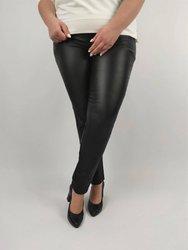 Czarne spodnie woskowane strecz PLUS SIZE