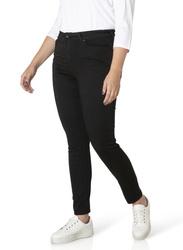 Klasyczne spodnie jeans XXL czarne, wąska nogawka JOYA