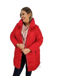 Zimowa czerwona kurtka  PLUS SIZE