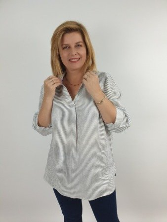 Koszula z lnu w paski