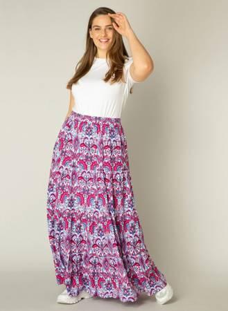 Letnia, długa spódnica trzy falbany
